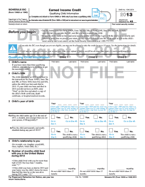 Fillable Online 2013 Schedule EIC (Form 1040) - McGraw-Hill Higher ...