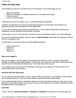 Fillable https sjobs brassring com cvs - Edit, Print & Download Form