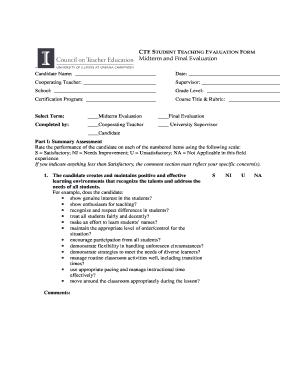 Art Teacher Evaluation Form