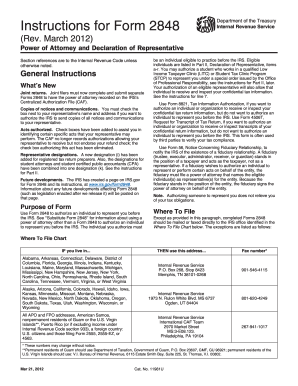 Form 2848 Instructions - Fill Online, Printable, Fillable, Blank ...