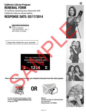 1234 Renewal Forms Lifeline - Fill Online, Printable, Fillable ...