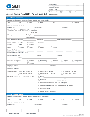 How To Fill Sbi Account Opening Form For Resident Individuals ...