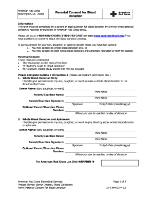 Fillable Online Parental Consent for Blood Donation.doc. This Form ...
