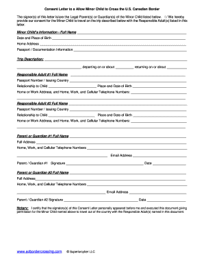 Fillable Online CBT Minor Travel Consent Form Fax Email Print ...