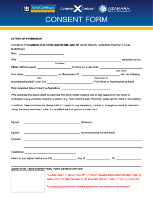 caribbean consent form