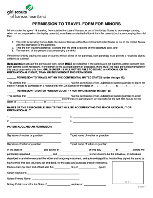 Affidavit of parental consent for travel of a minor child forms and permission to travel form for minors girl scouts of kansas heartland kansasgirlscouts altavistaventures Choice Image
