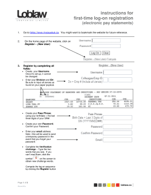 Fillable Online mypaystub first-time log-on registration Fax Email ...