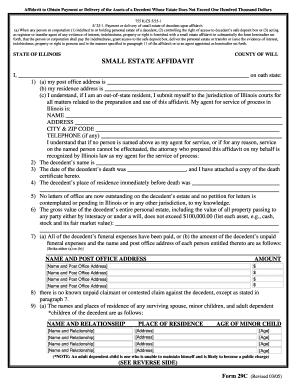 photo regarding Free Printable Small Estate Affidavit Form identified as 18 Printable lower estate affidavit pattern Sorts and