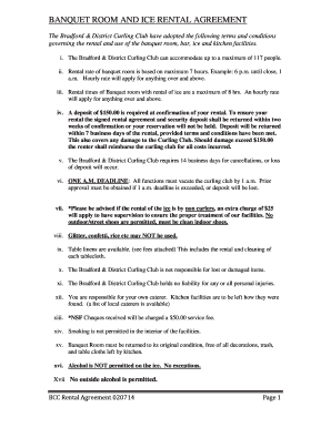 Banquet Hall Rental Agreement Form