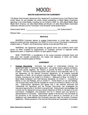 56 Printable Subcontractor Agreement Forms And Templates