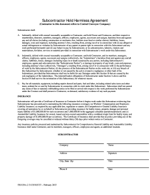 28 Printable Hold Harmless Agreement Forms And Templates