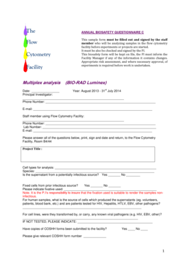 FCF Luminex Safety Form - soft-tissue-research