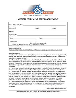 equipment rental agreement template free forms fillable