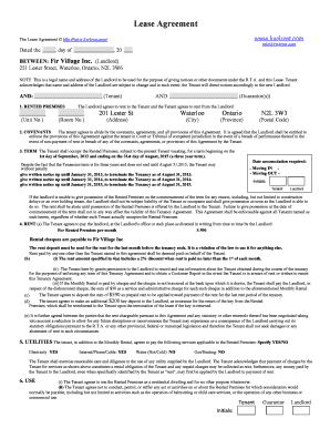 Lease Agreement - KW4Rent
