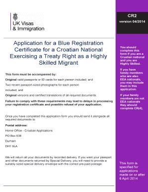 Fillable Online Application for a Blue Registration Certificate ...