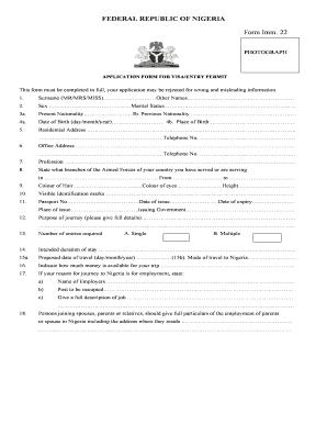 Nigerian Passport Application Form Pdf Fill Online Printable Fillable Blank Pdffiller
