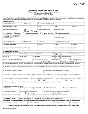 2013-2017 Form MI WC-100 Fill Online, Printable, Fillable, Blank ...