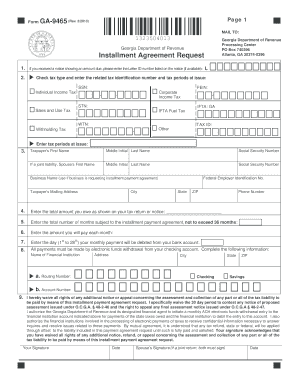 2013 Form GA DoR GA-9465 Fill Online, Printable, Fillable, Blank ...