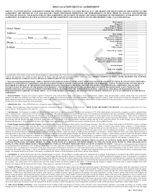 2014 vacation rental agreement - Joe Lamb, Jr. & Associates