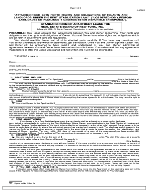 Printable Apartment Lease Nyc Edit Fill Out Download