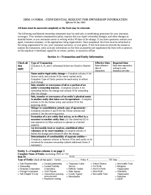 Fillable Online Erm-14 form confidential request for ownership ...