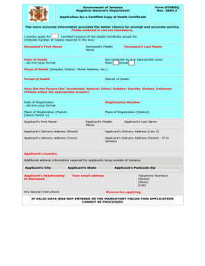 Death certificate sample forms and templates fillable printable blank death certificate form yadclub Images