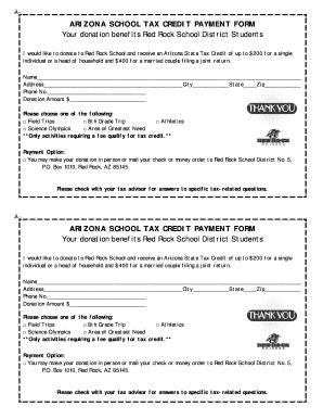 Arizona School Tax Credit Form - Fill Online, Printable, Fillable ...