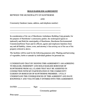 indemnification hold harmless agreement Forms and Templates ...