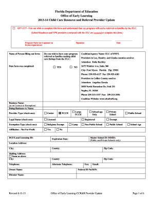 Child Observation Form Template 2017 14 Care Resource And Referral Provider Update