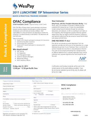 Fillable Online Rules & Compliance OFAC Compliance - WesPay Fax ...