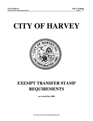 City of harvey exempt transfer stamp requirements - cityofharvey
