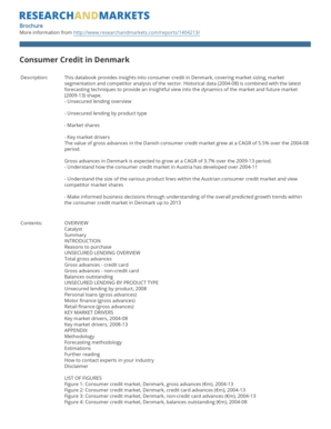 Consumer Credit in Denmark - Research and Markets