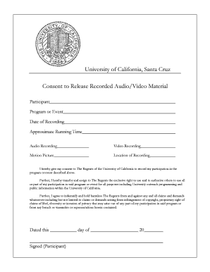 Fillable Online Download Video Release of Consent Form (PDF ...