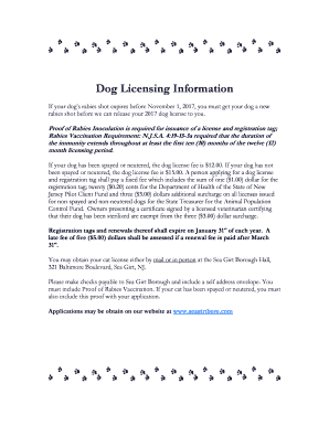Dog Licensing Information - seagirtboro.com