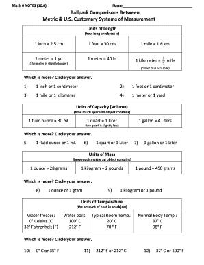 math conversion formulas - Edit & Fill Out Online Templates