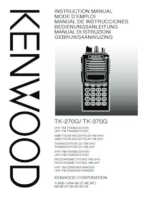 fillable online tk 270g 370g instruction manual fax email print rh pdffiller com  kenwood tk-370 user manual