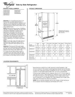 Refrigerator Electrical Requirements