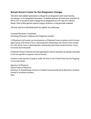 Editable sample letter to change doctors - Fill, Print