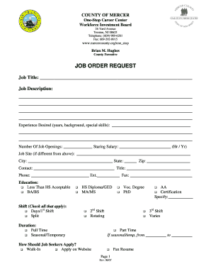Submit nj state job postings Templates Online in PDF
