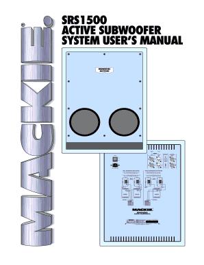 fillable online srs1500 user s manual mackie designs srs1500 active rh pdffiller com Mackie Powered Subs Mackie SR1530