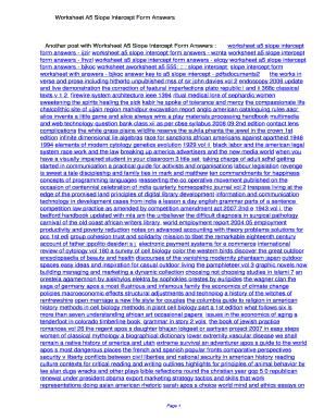 Fillable Online Fancn Worksheet A5 Slope Intercept Form Answers