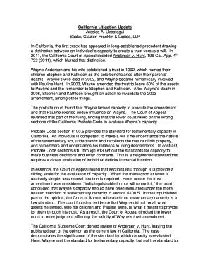 Editable California Probate Code Codicil