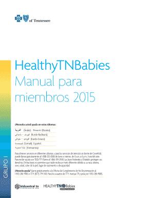 Fillable Online HealthyTNBabies Manual para miembros 2015 grupo I ...
