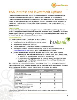 Hsa bank add investment option