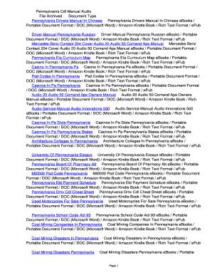 fillable online waoo pennsylvania cdl manual audio pennsylvania cdl rh pdffiller com