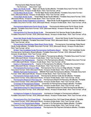 fillable online cevj pennsylvania mpje review guide pennsylvania rh pdffiller com