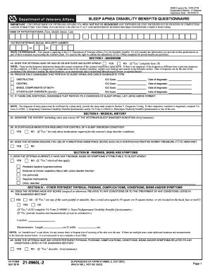 Fillable Online vba va VA Form 21-0960L-2. SLEEP APNEA DISABILITY ...
