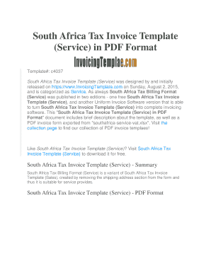5 Printable Tax Invoice Template Pdf Forms Fillable Samples In Pdf Word To Download Pdffiller