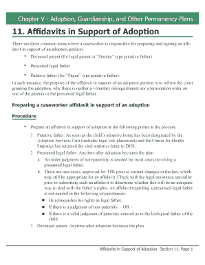 Affidavits In Support Of Adoption  Affidavit Samples