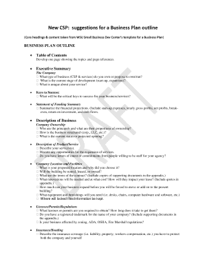One Page Business Plan Template Edit Fill Out Download - Generic business plan template